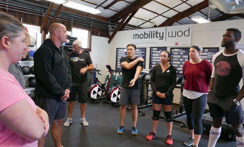 Kelly Starrett at a San Francisco CrossFit class